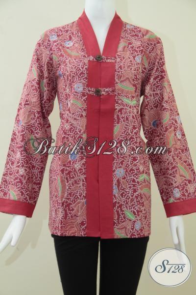 Pakaian Batik Wanita Motif Ikan Warna Merah,MOtif BAtik Ikan Trendy [BLS947P-M]