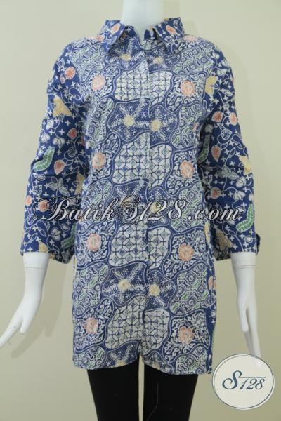 Baju Batik Kerja Ukuran Jumbo Untuk Wanita Gemuk Bls971c