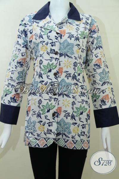 Baju Batik Wanita Model Krah,Batik Motif Terkini Dan Terlaris [BLS990CD-M]