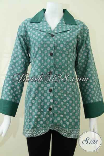Batik Online Wanita Modern Motif Truntum,Busana Batik Wanita Pegawai Swasta [BLS992CA-L]