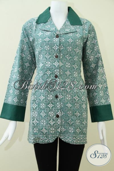 Baju Batik Wanita Ukuran Jumbo,Blus Batik Wanita Ukuran Big Size [BLS995CA-L]