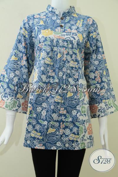 Blus Batik Wanita Model Krah Shanghai,Batik Wanita Shanghai [BLS996C-M]