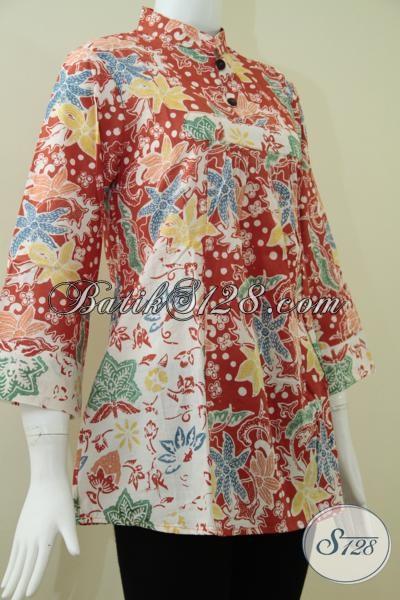 Baju Batik Warna Orange Batik Model Terbaru Dan Trend Masa Kini