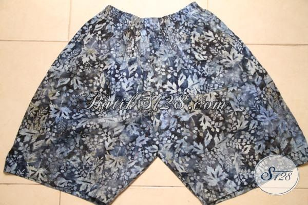 Jual Busana Batik Sanatai Model Celana Pendek Dengan Motif Trendy Proses Cap Smoke, Baju Baatik Santai Kwalitas Halus Harga Murmer