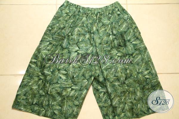 Jual Busana Batik Pria Untuk Di Pakai Di Rumah, Celana Pendek Motif Batik Trendy proses Cap Smoke Kwalitas Halus Harga Murmer [CD3145CS]