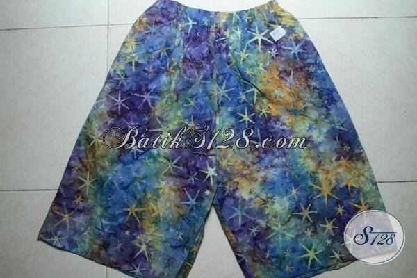 Celana Pendek Batik Untuk Pria Dan Wanita, Batik Celana Warna Trendy Pas Buat Santai Dirumah [CD3288CS]