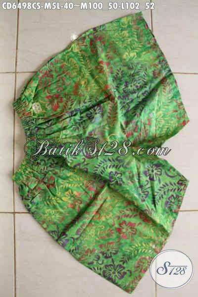 Toko Batik Online Sedia Celana Pendek Bahan Batik Model Terkini Motif Unik Cap Smoke Bahan Halus Kwalitas Istimewa [CD6498CS-M]
