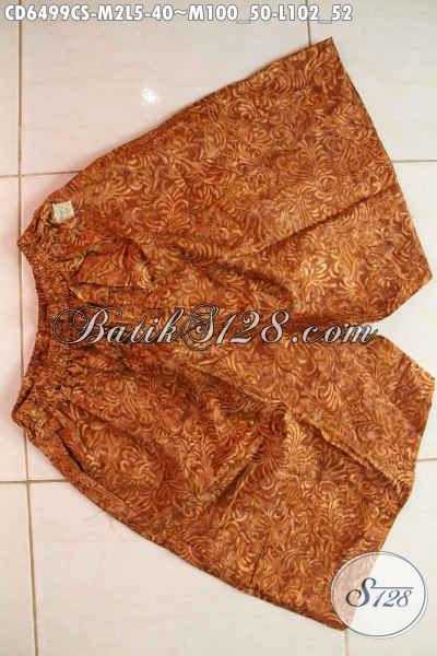 Produk Terbaru Dari Online Shop Batik, Celana Pendek Berbahan Halus Motif Terkini Proses Cap Smoke Untuk Pria Muda Dan Dewasa [CD6499CS-M , L]
