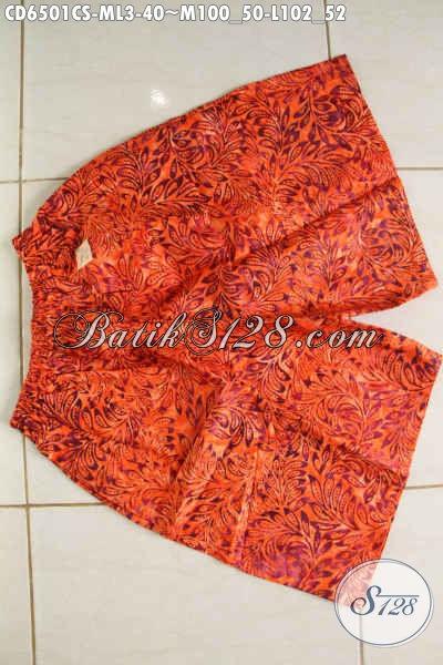 Celana Pendek Batik Motif Terbaru Asli Dari Solo, Hadir Dengan Bahan Adem Yang Nyaman Di Pakai Sehari-Hari Proses Cap Smoke [CD6501CS-M]