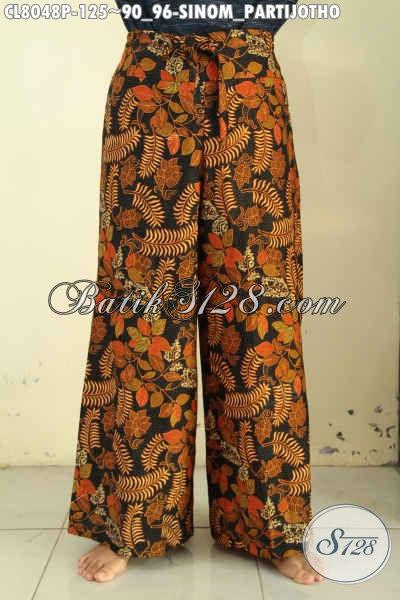 Jual Celana Kulot Batik Model Kekinian, Bawahan Batik Motif Sinom Partijotho Untuk Wanita Tampil Keren, Pas Buat Jalan-Jalan [CL8048P-All Size]