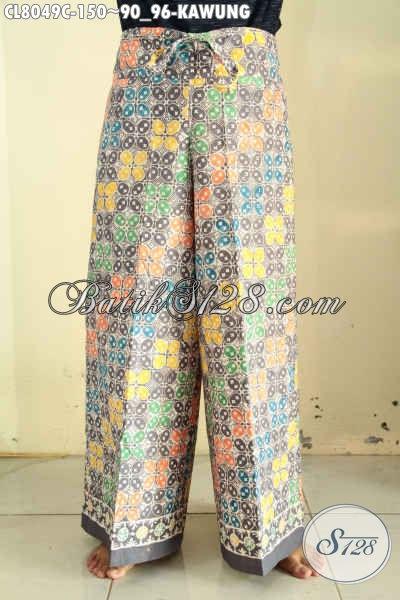 Celana Batik Motif Kawung Dan Trendy, Hadir Dengan Model Kulot Proses Cap Harga 150K