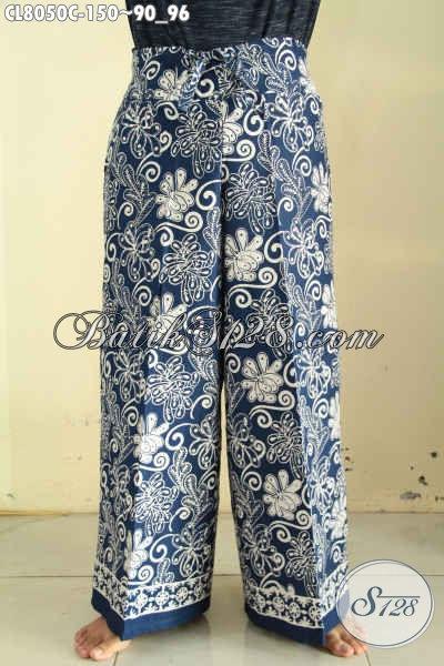 Koleksi Terkini Celana Batik Kulot Nan Modis, Model Terbaru Motif Bagus Proses Cap, Tampil Makin Bergaya [CL8050C-All Size]