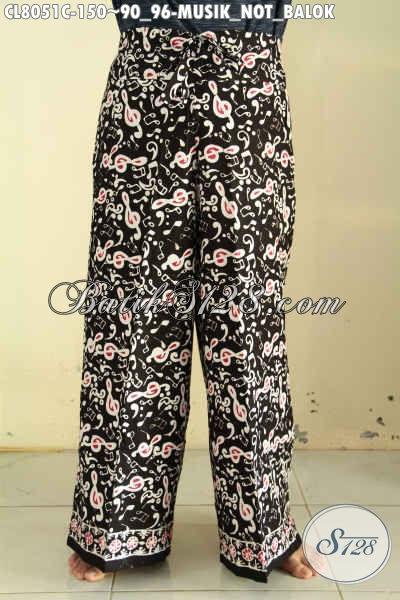 Jual Online Celana Batik Keren Kantong Dalem Pake Tali Depan Bisa Di Serut, Celana Kulot Buat Cewek Pas Untuk Santai Di Rumah [CL8051C-All Size]