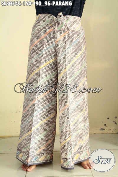 Celana Kulot Pakai Kantong Dalem Bahan Batik Desain Keren Dilengkapi Karet Belakang Lebih Fleksibel Hanya 150K, Bahan Adem Motif Parang Proses Cap [CL8054C-All Size]