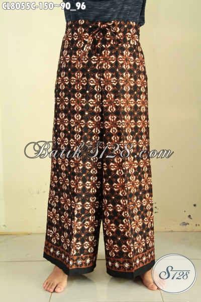 Celana Batik Klasik Proses Cap, Celana Kulot Model Tali Depan Bisa Di Serut Di Lengkapi Kancing Dalam, Kwalitas Bagus Harga 150 Ribu [CL8055C-All Size]