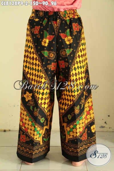 Model Celana Batik Kulot Yang Modis Untuk Jalan-Jalan, Bawahan Batik Solo Nan Modis Kwalitas Bagus Harga 150K