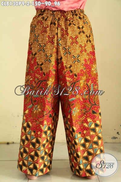 Model Celana Batik Istimewa, Bahan Halus Motif Klasik Printing Di Lengkapi Kantong Dan Tali