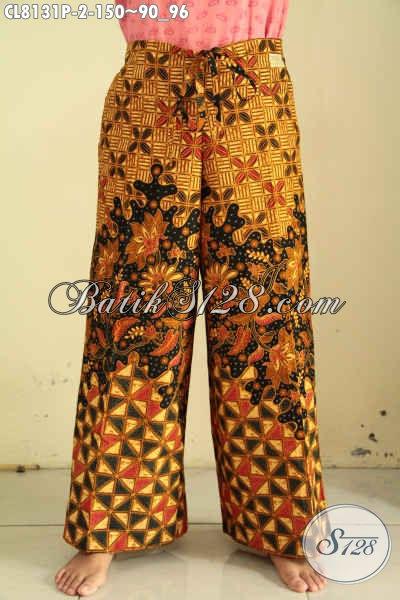 Celana Batik Kulot Masa Kini, Pakaian Bawahan Batik Untuk Wanita Tampil Mempesona
