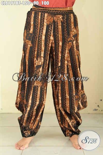 Celana Batik Gaul Wanita Muda, Hadir Dengan Desain Kekinian Di Lengkapi Kantong Dan Karet Pinggan Harga 100 Ribuan