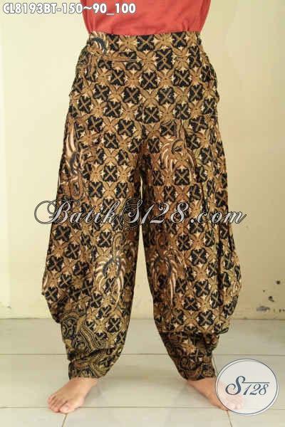 Model Celana Batik Motif Klasik Desain Keren Proses Kombinasi Tulis, Batik Celana Modern Di Lengkapi Karet Pinggang Dan Kantong Kanan Kiri, Pas Buat Santai [CL8193BT-All Size]