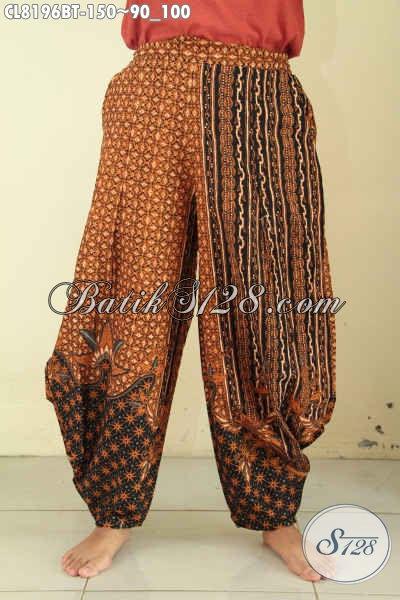 Model Celana Batik 2018 Untuk Wanita, Batik Celana Panjang Motif Klasik Kombinasi Tulis Bahan Adem, Bikin Penampilan Makin Mempesona