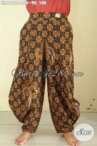 Celana Batik Gaul Buatan Solo Asli, Pakaian Batik Bawaha Untuk Wanita Tampil Gaya Dan Modis, Di Lengkapi Kantong Kanan Kiri Harga 100 Ribuan