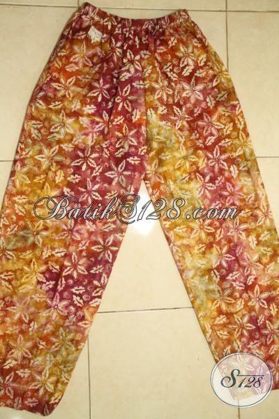 Agen Pakaian Batik Solo Jual Celana Batik Motif Unik Proses Cap Smoke, Batik Santai Model Celana Panjang Warna Gradasi [CP4119CS-107]