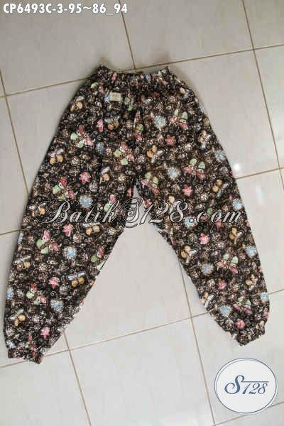 Celana Panjang Batik Wanita Terbaru Dengan Motif Terkini Bahan Adem Proses Cap Harga 95K [CP6493C-All Size]