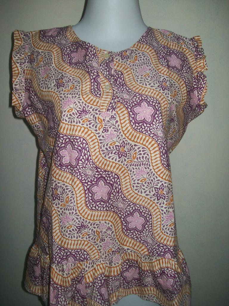 Batik Halus Perempuan Tanpa Lengan Printing