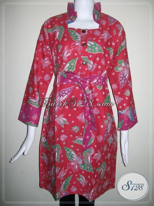 Baju Dress Wanita Warna Merah Bertali Depan [DR026P]