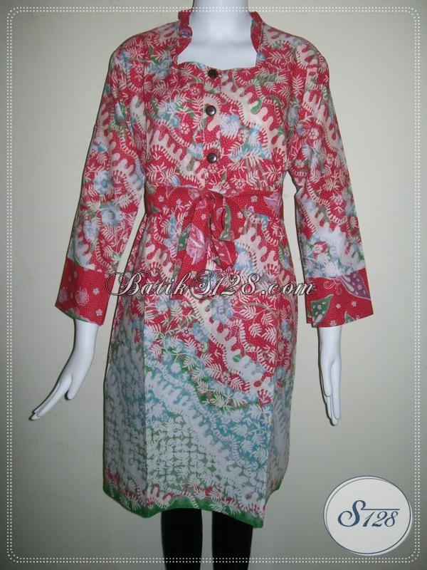 Toko Online Dress BAtik Pesta,Dress Batik Pesta Untuk Wanita Dewasa [DR029P-L]