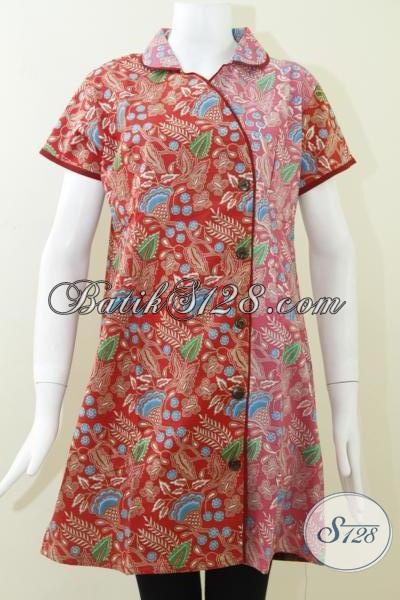 Dress Batik Seksi Lengan Pendek Model Terbaru Untuk Remaja Putri Dan