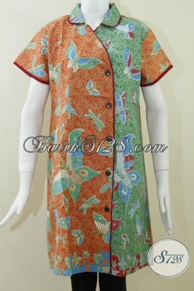 Jual Dress BAtik Murah Untuk Seragam Kantor [DR059P-XL]