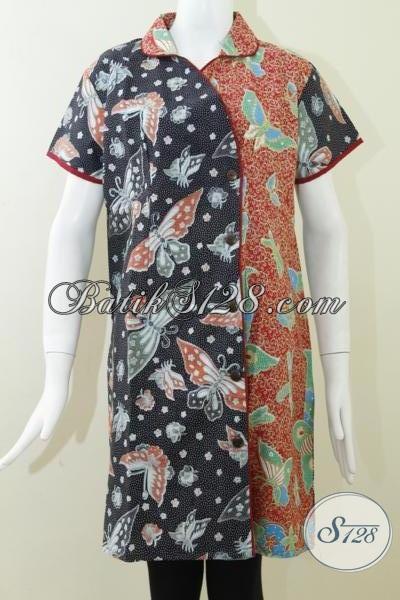 Baju Batik Selutut Untuk Wanita Lembut Dan Aktif [DR062P]