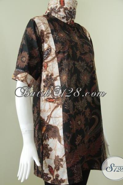 Dress Batik Premium Wanita Karir Yang Selalu Ingin Tampil Modis Trendy Dan Menawan, Size M