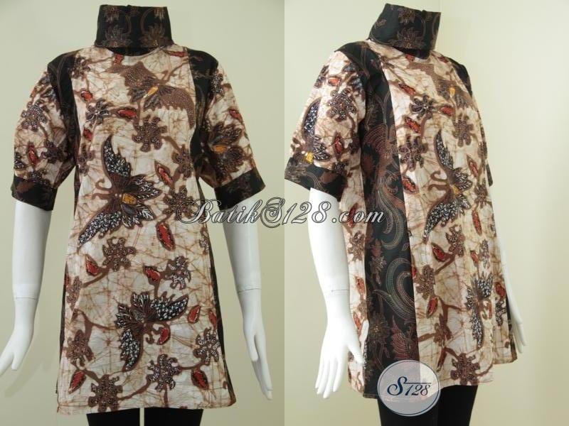 Setdress BAtik Wanita Model Terkini,Batik Trend Yang Fashionable [DR080BT-M]