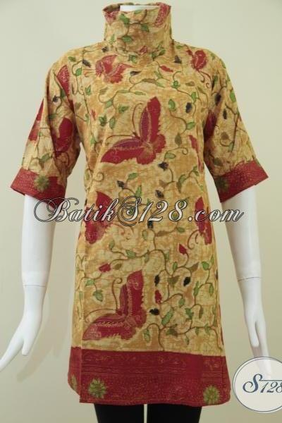 Pakaian Batik Wanita Model Sackdress Cantik Asli Solo [DR086KT-L]