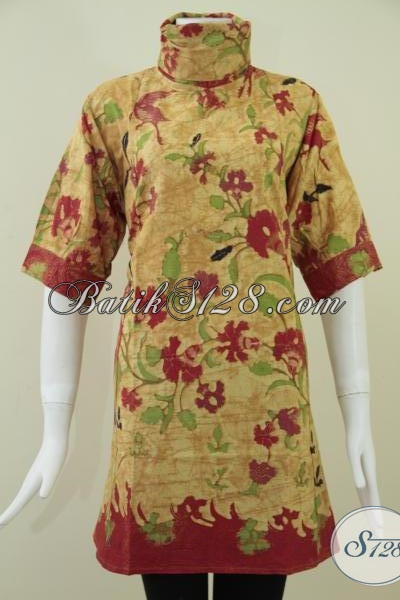 Dress Cantik Batik Solo,Dress BAtik Wanita Motif Terkini [DR088KT-XL]
