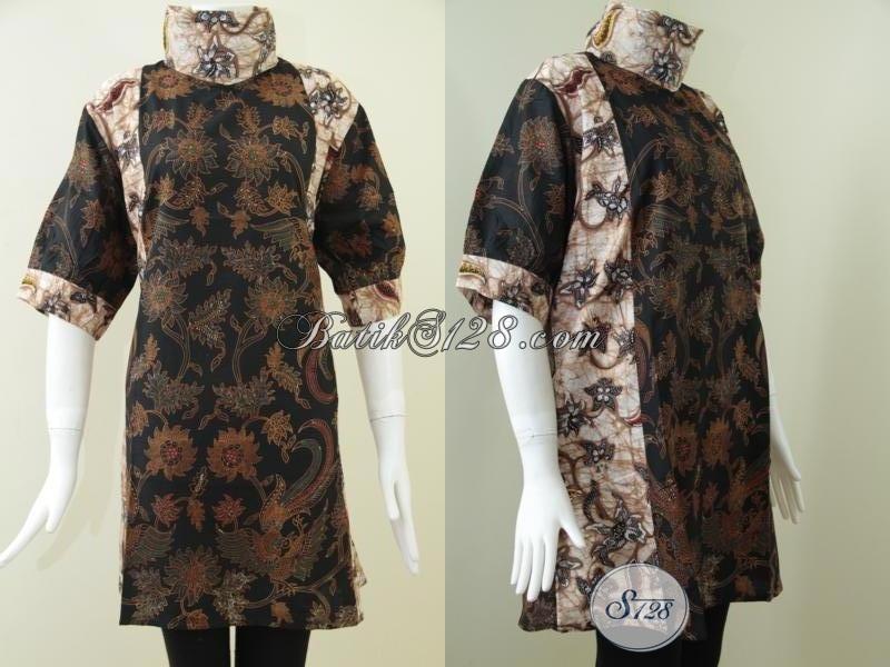Baju Batik Solo Keren Dan Fashionable, Busana Batik Modern Tampil Cantik Dan Elegan Meski Badan Gemuk, Size XXL