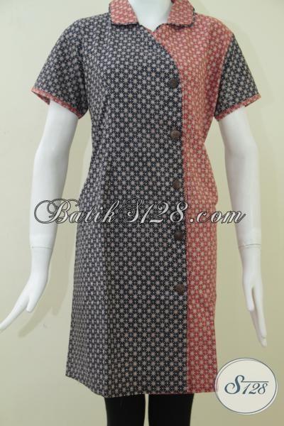 Batik Wanita Model Dress Modis Asli Dari Batik Klasik Solo [DR098BT-L]