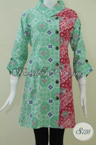 Dress Batik Warna Cerah Batik Model Sederhana Tapi Terlihat Istimewa