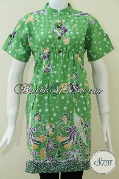 Baju Dress Wanita Batik Warna Hijau Dr125p Xl Toko