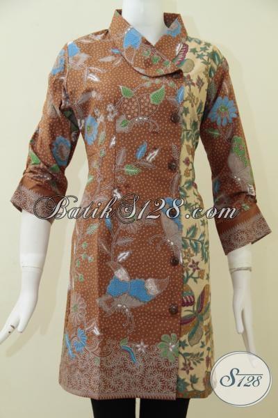 Online Shop Batik Jual Dress Batik Keren Model Terbaru Untuk Kerja Bagus Untuk Kondangan Juga Keren [DR1752PL-M]