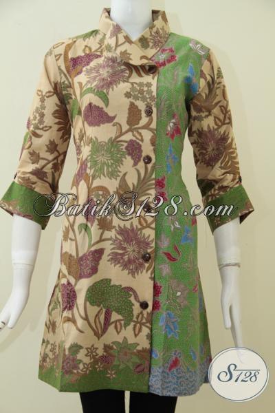 Jual Aneka Dress Batik Trendy Motif Keren Desain Menarik Dan Fashionable, Cocok Untuk Pesta Maupun Kerja [DR1754PL-M]