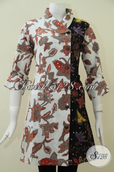 Jual Busana Batik Online Asli Produk Solo, Baju Batik Wanita Model Formal Untuk Pakaian Kerja Perempuan Kantoran Tampil Lebih Stylish [DR1759BT-M]