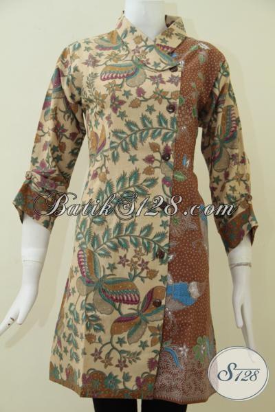 Online Shop Batik Solo Sedia Baju Dress Terbaru Untuk Perempuan Muda Masa Kini Tampil Cantik Dan Berkelas [DR1762PL-L]