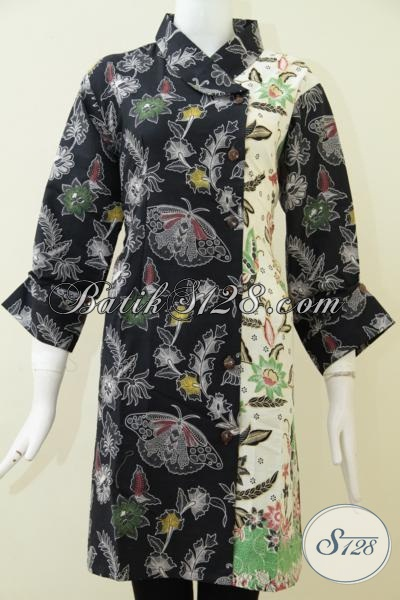 Toko Batik Online Asli Solo Sedia Dress Batik Bagus Kwalitas Premium Dengan Harga Terjangkau, Baju Batik Formal Untuk Baju Kerja Dan Pesta [DR1772BT-XXL]