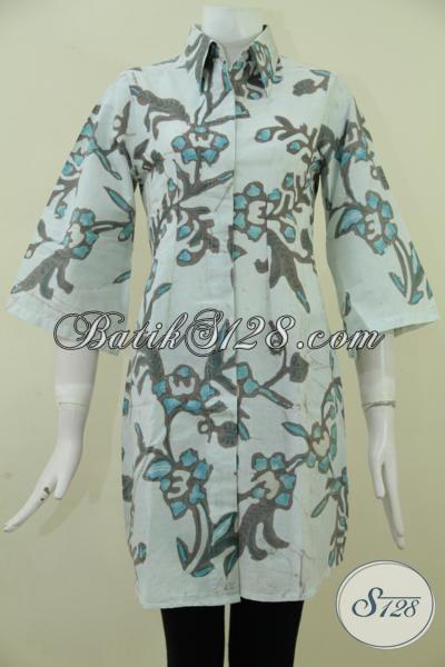 Jual Aneka Dress Batik Terbaru Dengan Desain Masa Kini Yang Lebih Rapi Dan Nyaman Di Pakai Setiap Hari, Bisa Untuk Kerja Maupun Jalan-Jalan [DR1844BT-M]