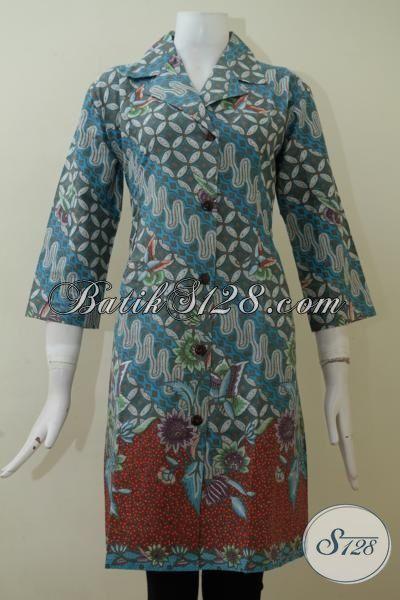 Beli Baju Batik Solo Untuk Wanita, Aneka Pakaian Batik Model Dress Terkini Yang Lebih Modis Dan Berkwalitas Premium [DR2105P-L]