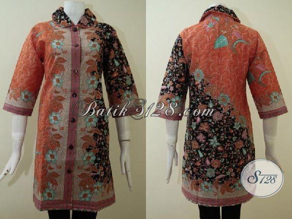 Pusat Busana Batik Solo Online, Hadir Dengan Berbagai Koleksi Terbaru Diantaranya Dress Batik Cantik Dengan Desain Mewah Pas Untuk Di Pakai Kerja Kantoran [DR2171P-XL]